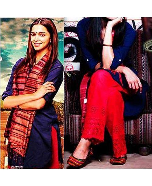 Sizzling Blue/Red Piku Dress