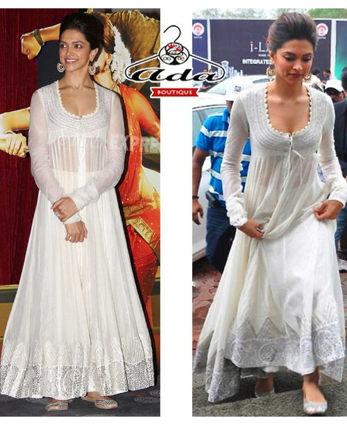 Sizzling White Deepika White Dress