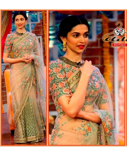 Sizzling Deepika Floral Work Saree