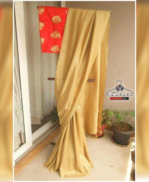 Stunning Golden Saree Set