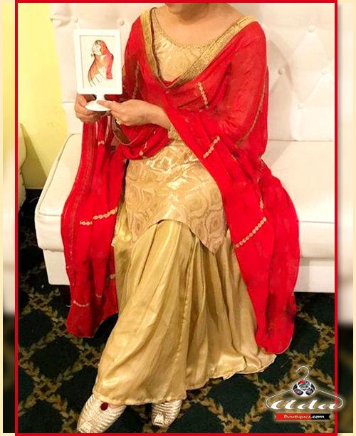 Golden/Red Skirt Dress