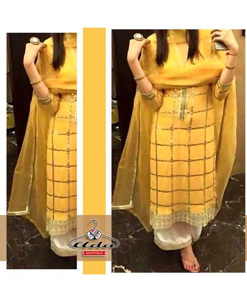 Ethnic Yellow Designer Dress