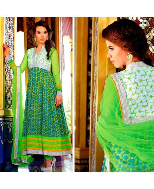 Stunning Green Anarkali Dress