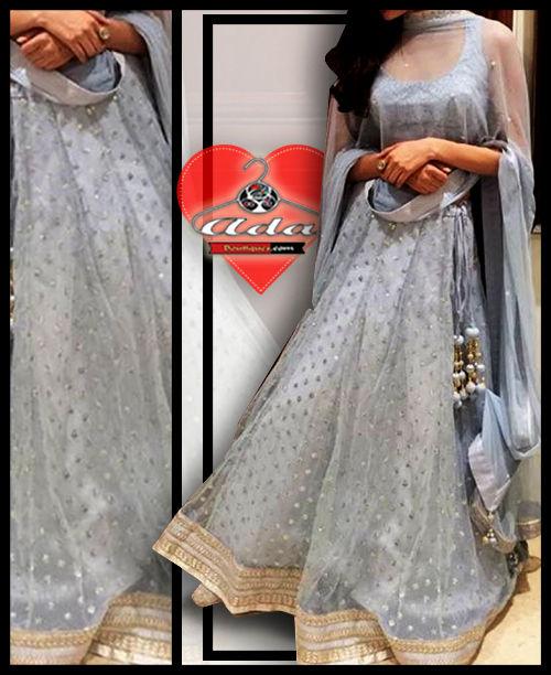 Grey Lehenga Dress