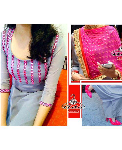 Stylish Grey/Pink Dress