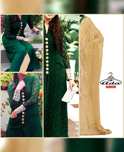 Gorgeous Green/Beige Dress