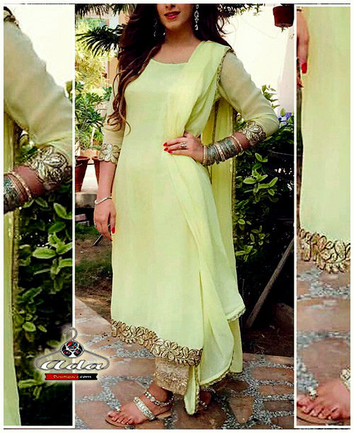 Stylish Grape Green Dress