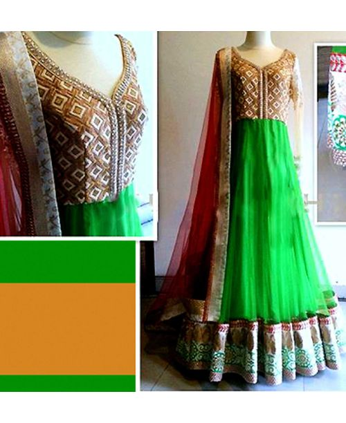 Stylish Green Lehenga Dress