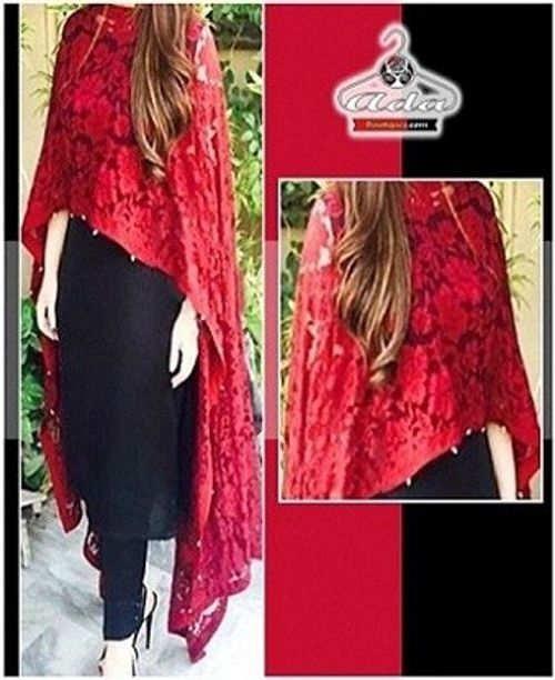Stylish Black/Red Floral Dress