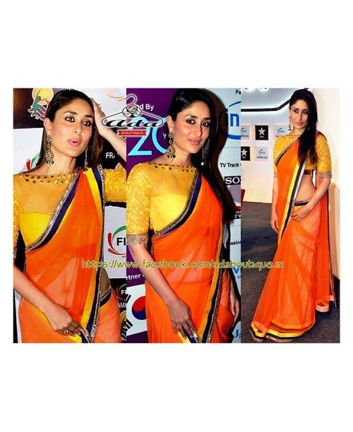 Kareena Kapoor Glamourous Orange Saree