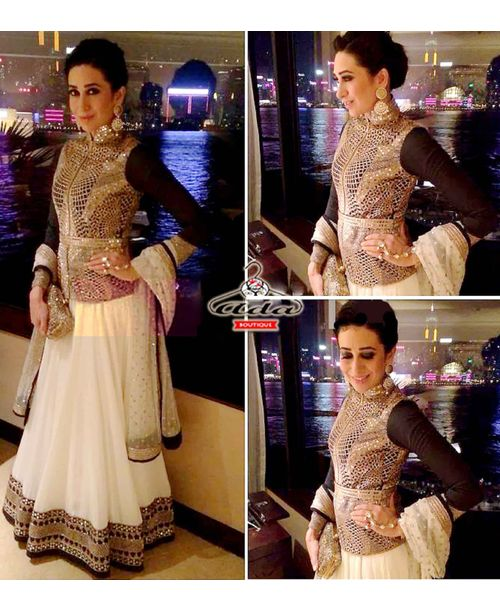 Stylish White karishma Lehenga Dress