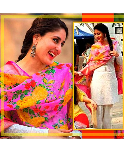 Trendy Suit with Pink dupatta