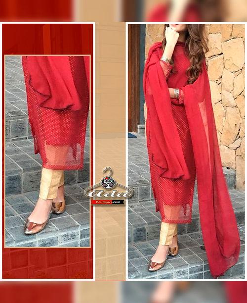 Red/Beige Dress
