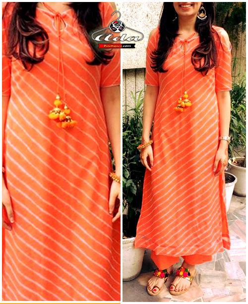 Orange Leheria Dress