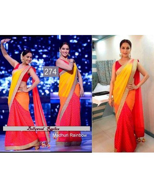 Madhuri Rainbow Sari