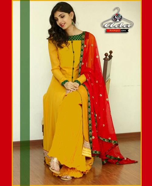 Mustard Red Dress