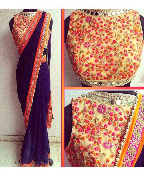 Stylish Embroidered Saree