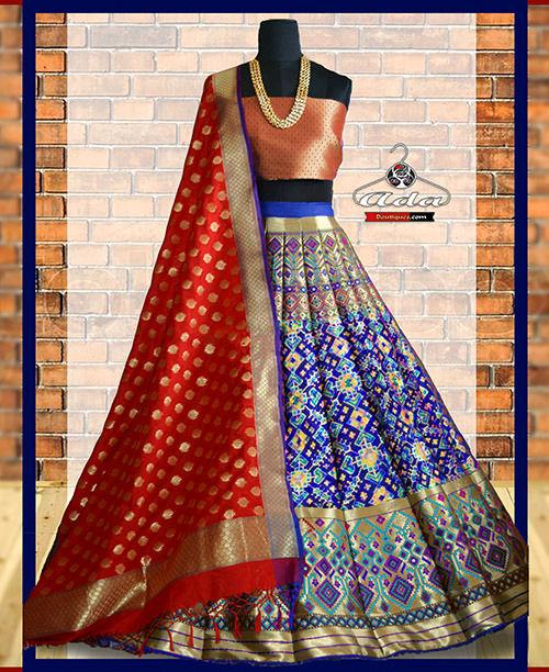 Royal Banarasi Lehenga Dress