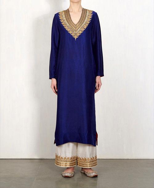 Trendy Blue/White Dress