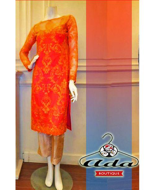 Orange /Golden Dress