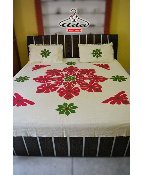 Embroidered Patchwork Bedsheets