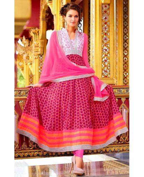 Stunning Pink Anarkali Dress