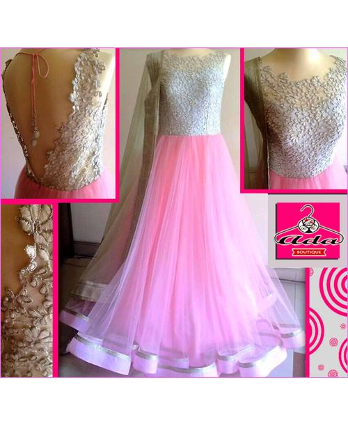 Pink Anarkali Gown Dress