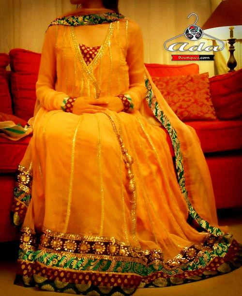 Mustard Gown Dress