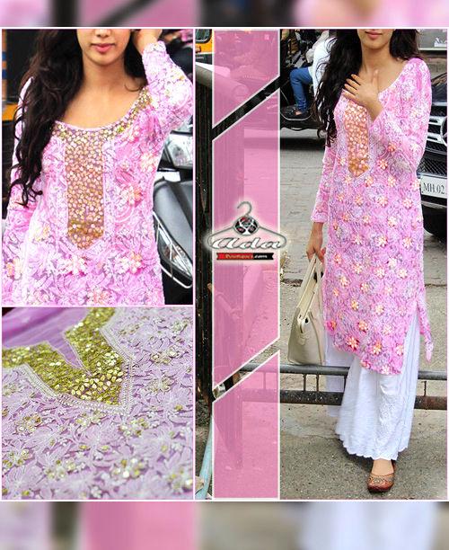 Exclusive Lucknowi Chikan Gotta Patti Dress