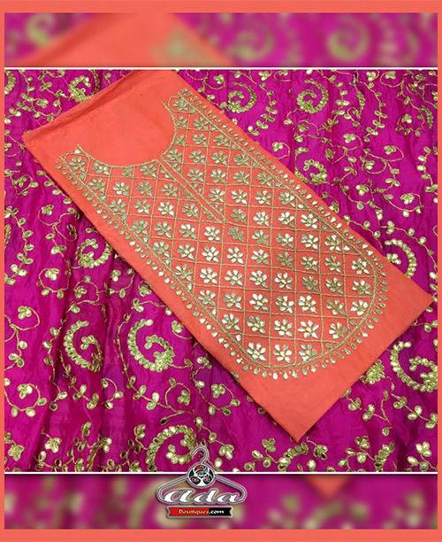 Orange/Pink Gotta Patti Dress