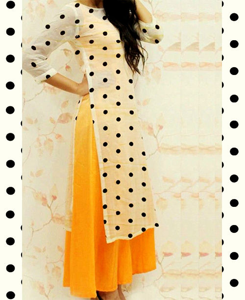 Stylish Polka /Orange Dress