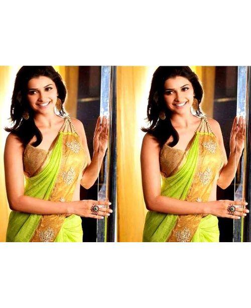 Glamourous Prachi Desai Green Saree