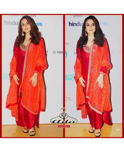 Preity Zinta Red /Orange Dress