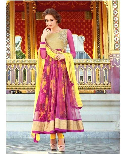Sizzling Floral Anarkali Dress