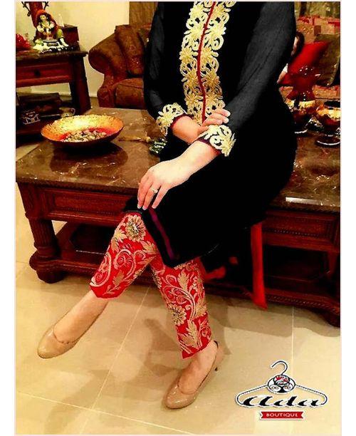 Stylish Red/ Black Dress