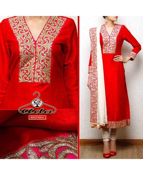 Ethnic Red/White Suit