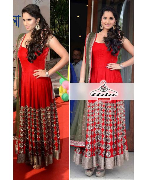 Red Hot Sania Mirza Dress