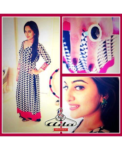 Trendy Black/Pink Sonakshi Dress