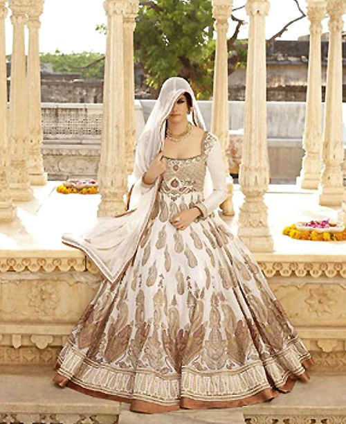 Supreme Quality Original Ethnic White Gown