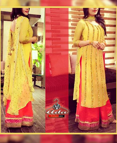 Ethnic Yellow / Pink Dress