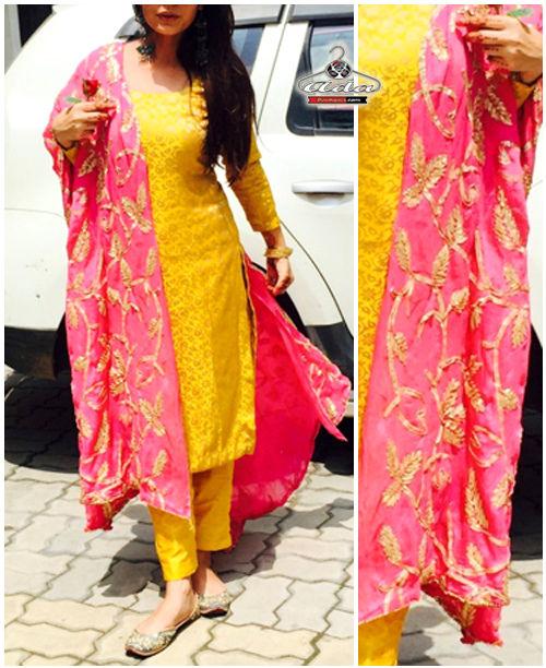 Ravishing Yellow/ Pink Dress