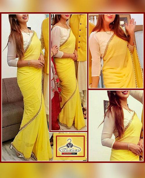 Yellow Saree Set