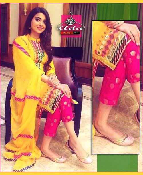 Stylish Yellow/Pink Dress
