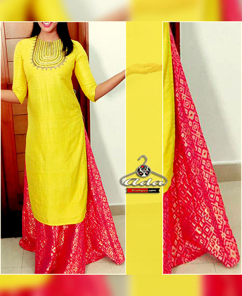 Yellow / Pink Skirt Dress
