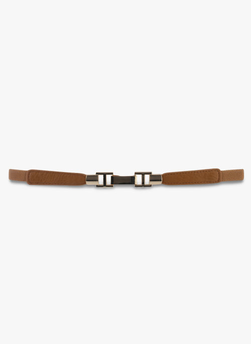 Kazo Brown Belt with Silver Buckle