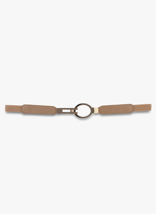 Kazo Beige Belt with Metal Clasp