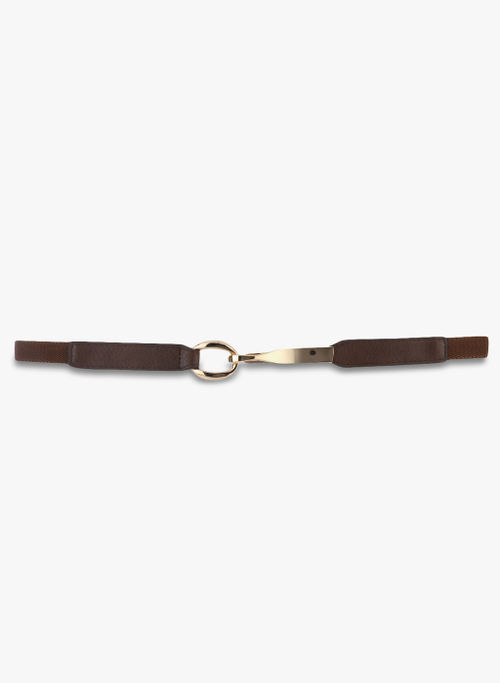 Kazo Brown Belt with Metal Clasp
