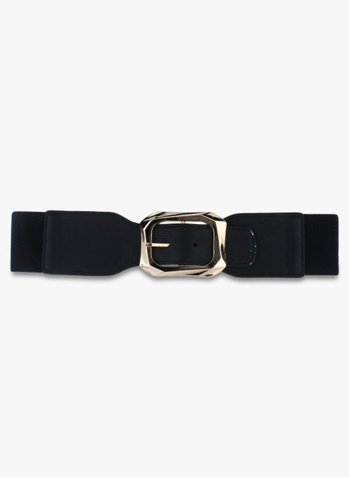 Kazo Black  Belt with large Buckle