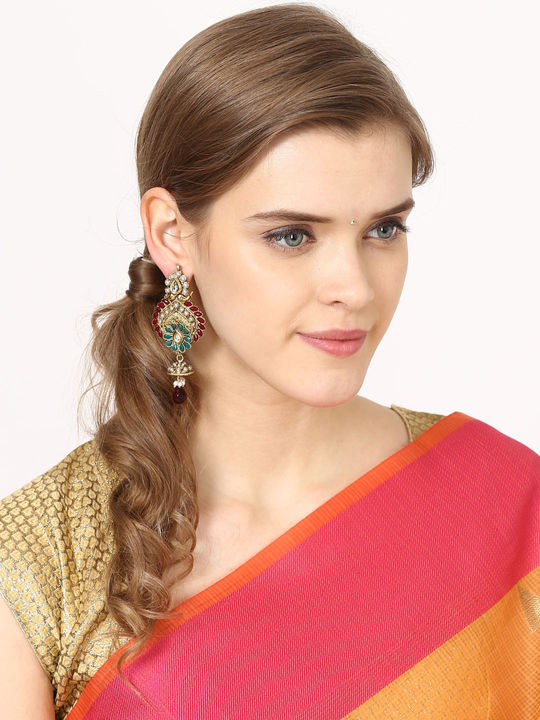 Aujjessa  Drop Earring with Marron Stone
