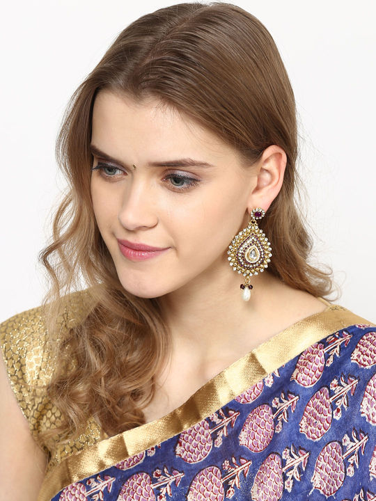 Aujjessa Drop Earring with Blue Stone